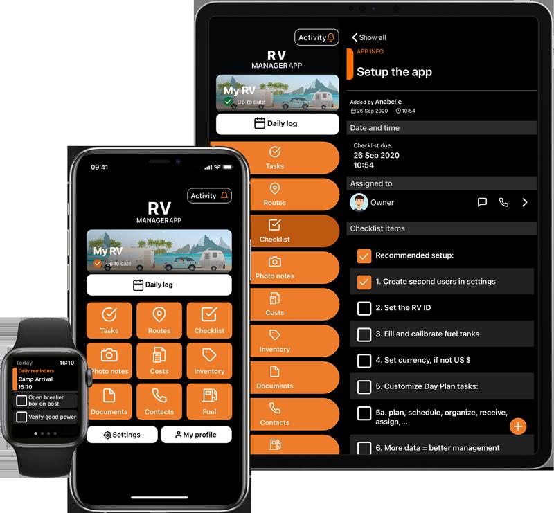 RV App on iOS units